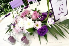 Сватбена украса в лилаво