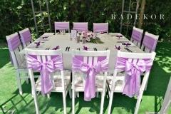 Панделки за столове в лилаво