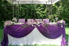 Младоженска маса в лилаво