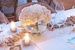 Сватбена украса морска тема