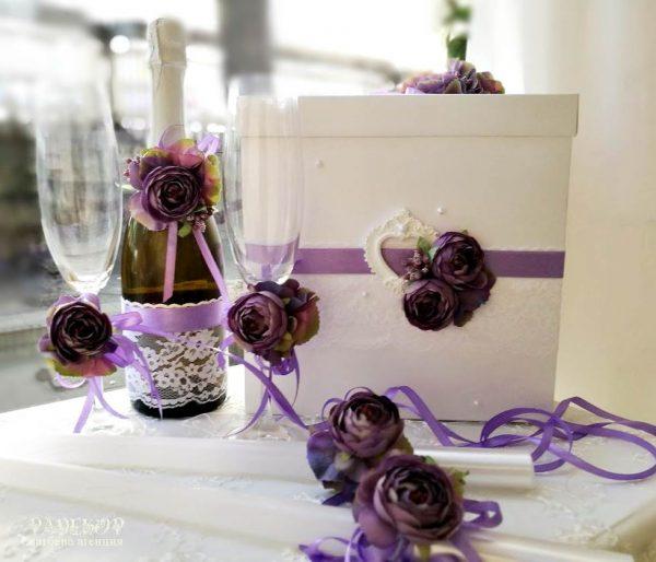Комплект сватбени аксесоари Чар