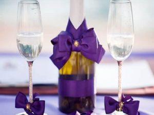 украса за чаши и шампанско