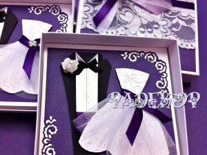 Сватбена покана с кутия