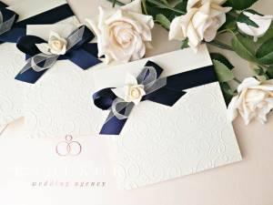 Сватбени покани Дивна - тъмно синьо