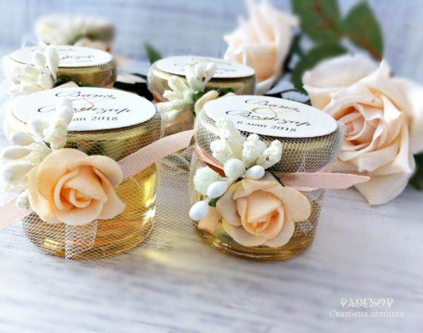 Подарък за гости Бурканче с мед