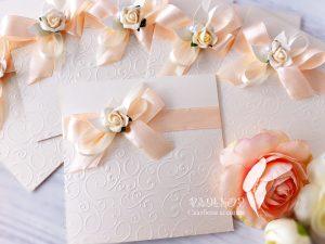 Сватбена покана Дивна - прасковено
