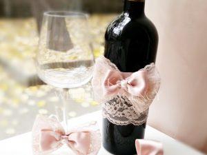 """Сватбено вино и декорация за бокал """"Блъш"""""""