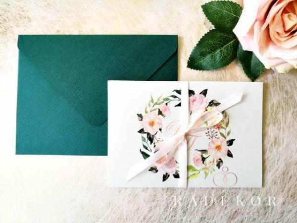 Сватбена покана Изабела с акварелни цветя