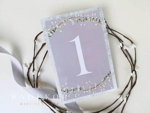 Номера за маси Соната - Сребро Картички отбелязващи номера на всяка маса в ресторанта.