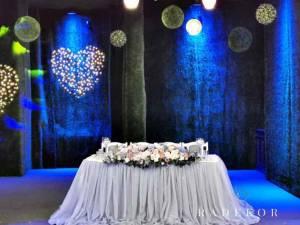 Сватбена украса Dusty blue and Blush