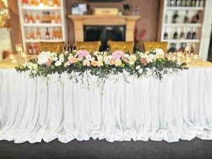 Сватбена украса Ivory and pink
