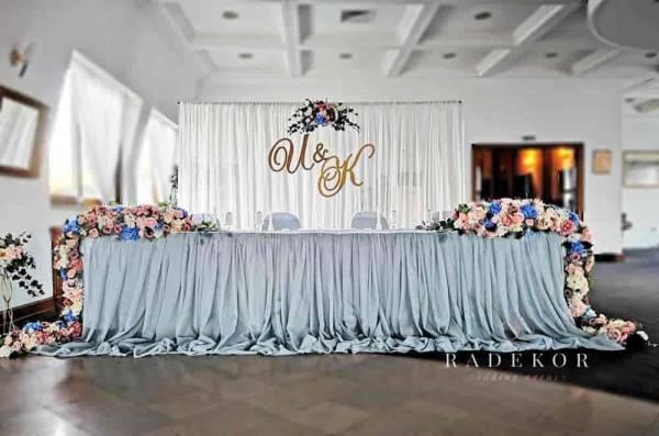 Сватбена украса Dusty blue romance