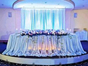 Сватбена украса White blue